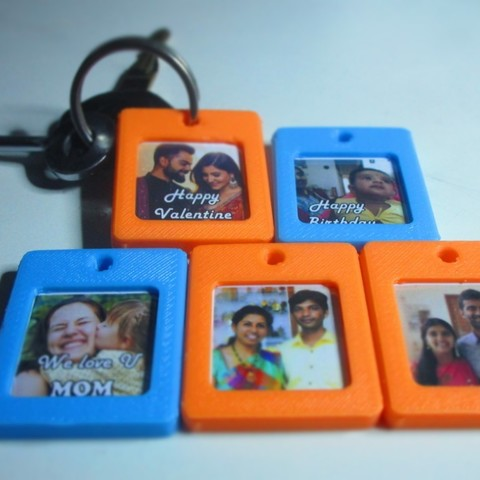 Download free 3D printer designs Photo frame Key chain, Aakaar_Lab