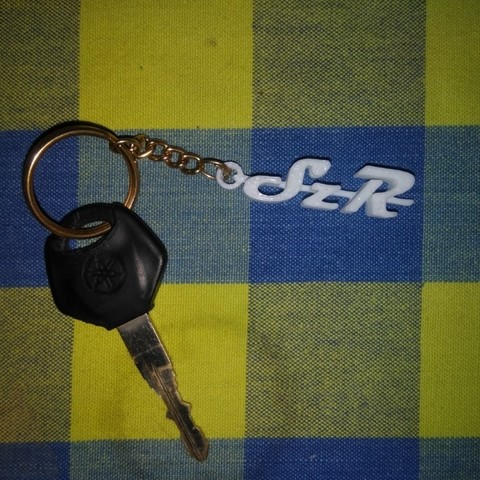 Download free STL files Key chain yamaha szr bike, Aakaar_Lab