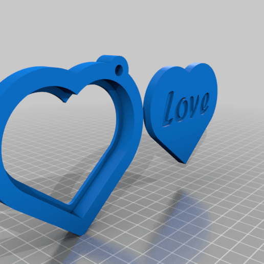 Download free STL Heart shape photo holder Key chain, Aakaar_Lab
