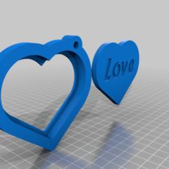 Descargar modelos 3D gratis Portafotos en forma de corazón Llavero, Aakaar_Lab