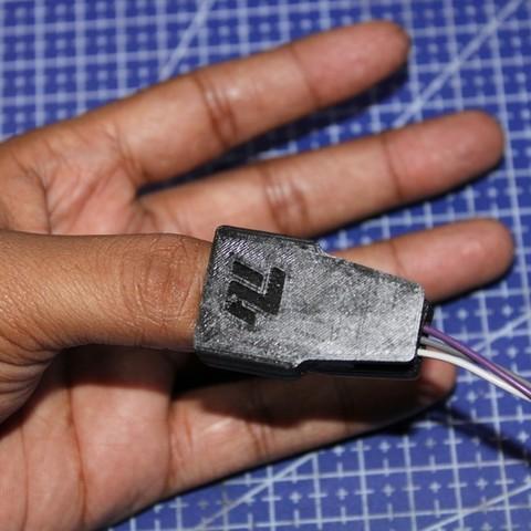 Download free 3D printing templates 3D Printed Pulse sensor case, Aakaar_Lab