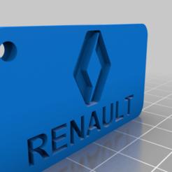 Télécharger fichier imprimante 3D gratuit Porte-clés avec le logo Renault, Aakaar_Lab