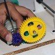 Download free 3D printer files Low cost DIY Rotary tumbler using robotic parts and printer parts, Aakaar_Lab