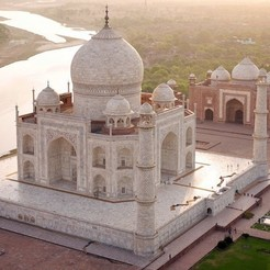 Download free 3D printing templates Taj Mahal (designed in tinkercad), Aakaar_Lab