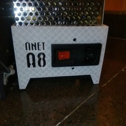 Download free 3D printing designs Anet A8 - Power Supply Cover with Switch, Aakaar_Lab