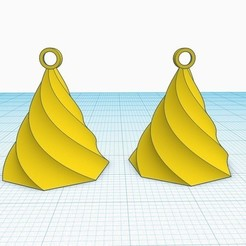 Free STL Simple earring designed in Tinkercad, Aakaar_Lab
