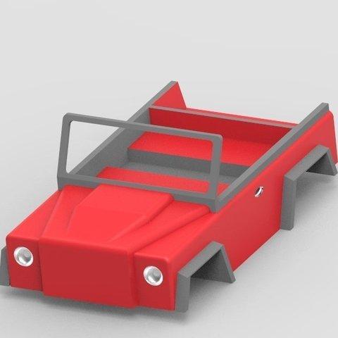 Free 3D printer designs RC Jeep Design (Under progress not yet completed ), Aakaar_Lab
