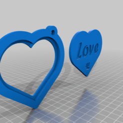 Télécharger fichier imprimante 3D gratuit Porte-photo en forme de coeur Porte-clés, Aakaar_Lab