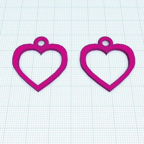Download free STL files Heart shape earring, Aakaar_Lab