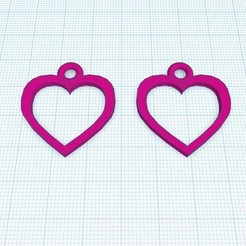 Free STL file Heart shape earring, Aakaar_Lab