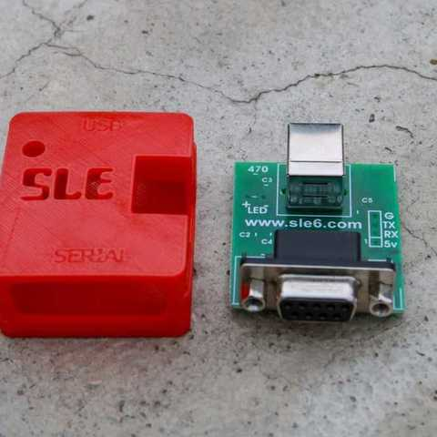 Free STL files USB to serial converted BOX (local made), Aakaar_Lab