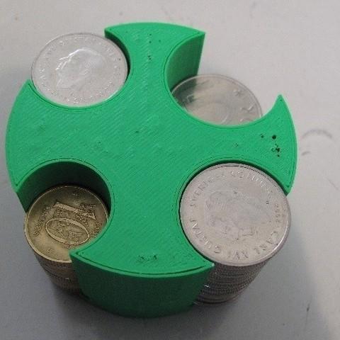 Télécharger plan imprimante 3D gatuit Organisateur de pièces de monnaie pour voiture (SEK), Durbarod