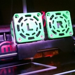 Free 3D printer designs Fan Cover for MakerBot Replicator 2X, Durbarod