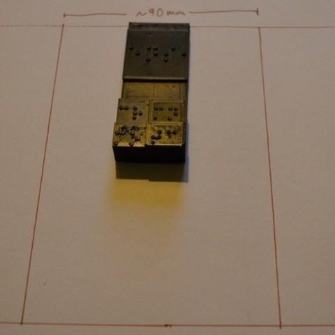 2_display_large.jpg Télécharger fichier STL gratuit Amélioration du tableau périodique en braille (densité) • Modèle imprimable en 3D, Durbarod