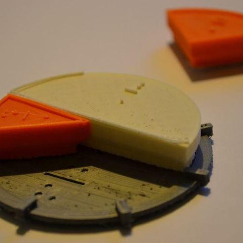 Télécharger objet 3D gratuit Trousse d'apprentissage des fractions avec braille, Durbarod