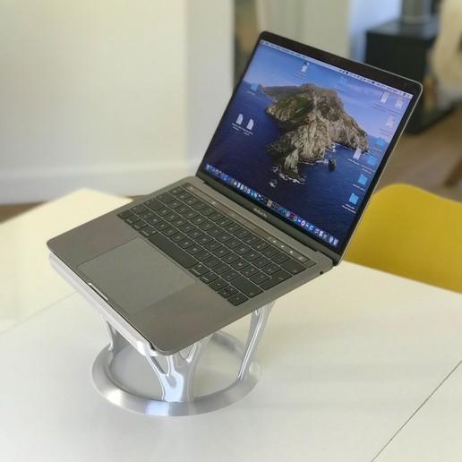 ©FAGES_LAPTOP_2.jpeg Descargar archivo STL Hermoso soporte para portátil, soporte para PC, soporte para Macbook • Diseño imprimible en 3D, fagescedric
