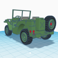 Plan imprimante 3D Jeep WWII, aalexgtf