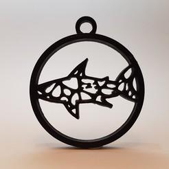 Télécharger STL Pendentif Voronoï requin, eugenedossantos