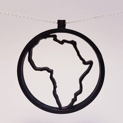 Download 3D printing files Africa Pendant, eugenedossantos