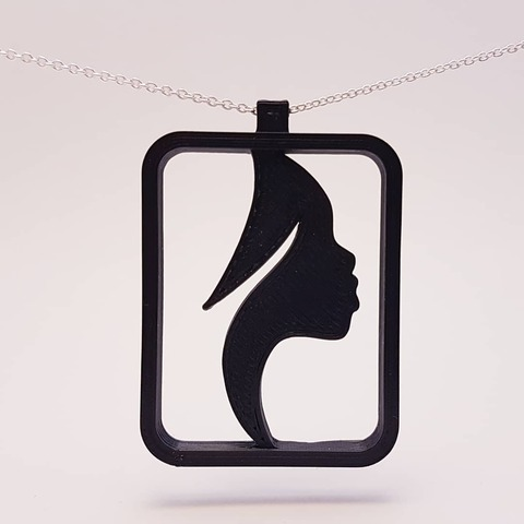 Impresiones 3D Colgante Dama Africana, eugenedossantos