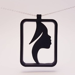 Download 3D print files African Lady pendant, eugenedossantos