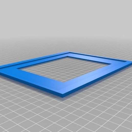 "LCD10FrameBack.jpg Download free STL file LCD 10.1"" case • 3D printable template, victor999"