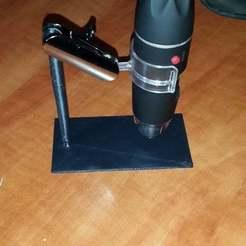 Télécharger fichier STL gratuit Monture de microscope USB • Modèle pour imprimante 3D, victor999