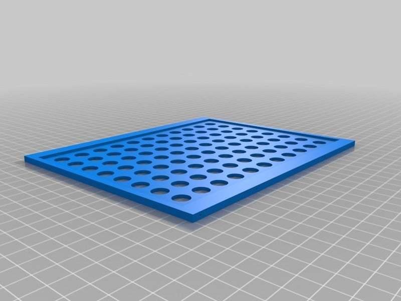 "LCD10FrameBackCircles.jpg Download free STL file LCD 10.1"" case • 3D printable template, victor999"