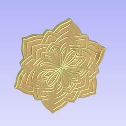 Untitled-2.jpg Download STL file Mandala 0132313  - geometric pattern decor • 3D printing model, victor999