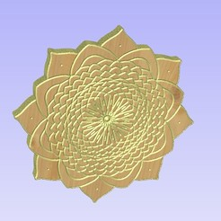 Untitled-10.jpg Download STL file Mandala 15 • 3D print model, victor999