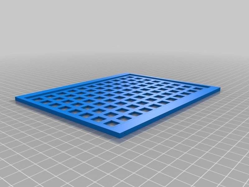 "LCD10FrameBackSquares.jpg Download free STL file LCD 10.1"" case • 3D printable template, victor999"