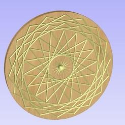 Untitled-1.jpg Download STL file Mandala 4 • 3D print template, victor999