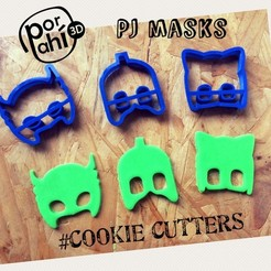 IMG_4351.JPG Download free STL file PJ masks cookie cutters Heroes in pajamas • 3D printable model, porahi3d