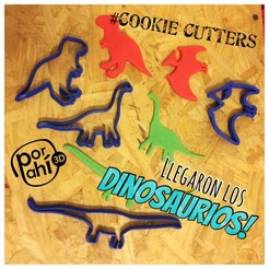 IMG_5384.JPG Download STL file kit dinosaur cutters, cookie cutters dinosaurs • 3D print object, porahi3d