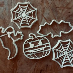 IMG_E8369.JPG Download STL file Set halloween cookie cutters Cookie cutters • 3D printer template, porahi3d