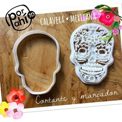 IMG_3897.JPG Download STL file Cookie dough cutter Mexican skull skull • Object to 3D print, porahi3d