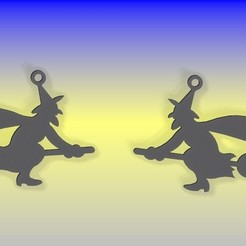 ARETES BRUJA 1.jpg Download STL file HALLOWEEN WITCHES • 3D printable object, equinoxxiovelas