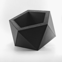 3D printer files PENTAGONAL POT | MODEL 03, MA-DisenosCreativos