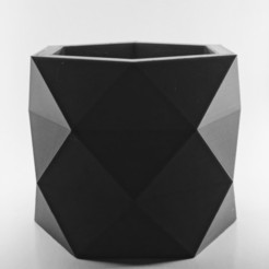3D print files POLYGONAL POT | MODEL 01, MA-DisenosCreativos