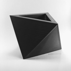 Download free 3D printer templates CLASSIC TRIANGULAR POT | MODEL 4, MA-DisenosCreativos