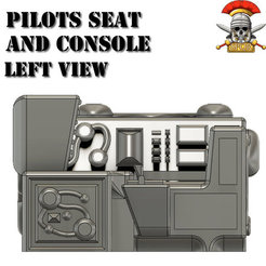 3D print files Pilots Chair And Console Wargaming Scenery, SPQRWargames