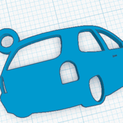 llavero corsa.png Download STL file Chevrolet Corsa Keyring • 3D printing object, marcelosaldivia