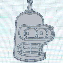bender.png Download STL file Bender Futurama keychain / Keychain Bender Futurama • 3D printable template, marcelosaldivia