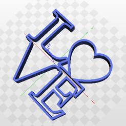 love.png Download STL file Love Valentine's Day Cutter • 3D printing design, marcelosaldivia