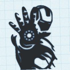 IRONM.png Download STL file Ironman silhouette - Ironman siluet • 3D printing object, marcelosaldivia