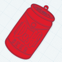 Sin título.png Download STL file Duff beer keychain • 3D printer template, marcelosaldivia