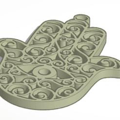 Descargar diseños 3D LLavero de la Suerte Mano de Fatima / Lucky Keyring Fatima´s Hand, marcelosaldivia