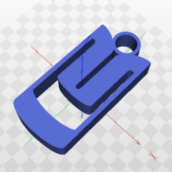 3D print model ALEKO key ring, marcelosaldivia