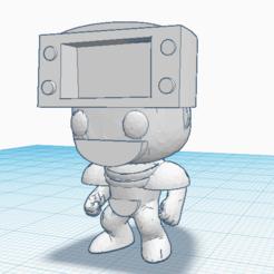 dustman 2.0.png Download STL file Mini Funko Dustman/Megaman • Design to 3D print, marcelosaldivia
