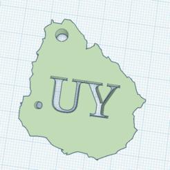 URULL.png Download STL file Uruguay Keyring • 3D print object, marcelosaldivia